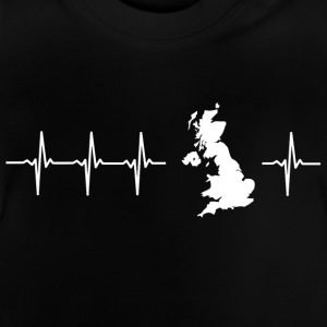 I love the United Kingdom (heartbeat) - Baby T-Shirt