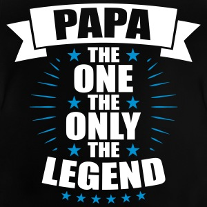 Papa The One The Only The Legend fedre - Baby-T-skjorte