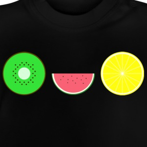 DIGITAL FRUITS - Hipster KIWI MELONE ZITRONE - Baby T-Shirt