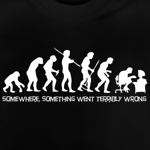 Darwin's Human Evolution From Ape To Digital Man. - Baby T-Shirt