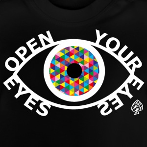 Shapes - Open Your Eyes Hvit - Baby-T-skjorte
