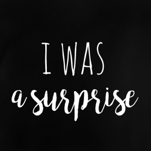 i was a surprise - white - Design für Zwillinge - Baby T-Shirt