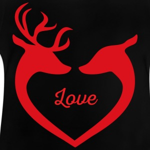 Stag deer love - Baby T-Shirt