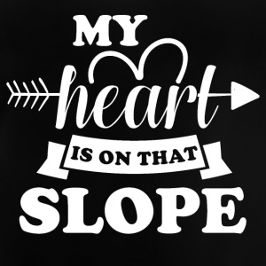 My heart is on slope did - Baby T-Shirt