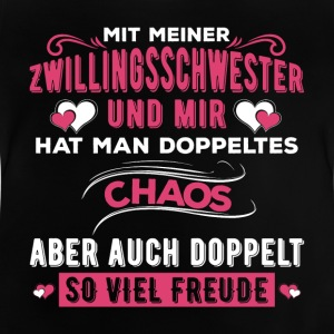 Zwillingsschwester Chaos - Baby T-Shirt