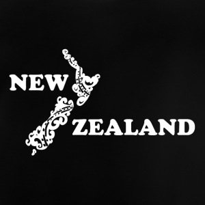 New Zealand: map and lettering in white - Baby T-Shirt