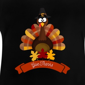 Thanksgiving Happy Turkey Day - Happy Thanksgiving - Baby T-Shirt