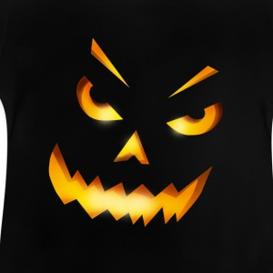 halloween pumpkin horror face grin fire - Baby T-Shirt
