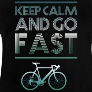 keepcalm cykel cykel gå fort racing - Baby-T-shirt