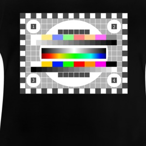 testbild color pattern retro stylish TV running - Baby T-Shirt
