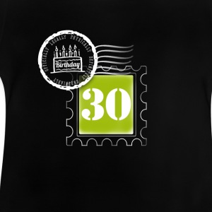 30 years birthday anniversary stamp postal stamp - Baby T-Shirt