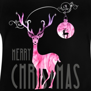 rentier pink Christmas advent nicholas girl woman - Baby T-Shirt