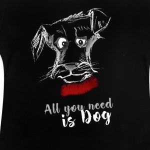 dog dog terrier drawing pointing - Baby T-Shirt