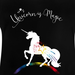 Unicorn Magic Rainbow immortal romantic - Baby T-Shirt