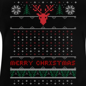 pattern-embroidered Christmas Christmas uguly antler - Baby T-Shirt