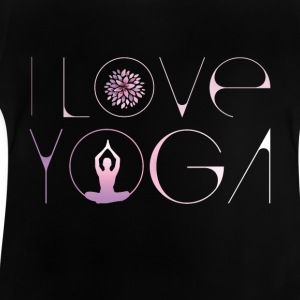 i love yoga lotus blossom buddha meditation purple ohm - Baby T-Shirt