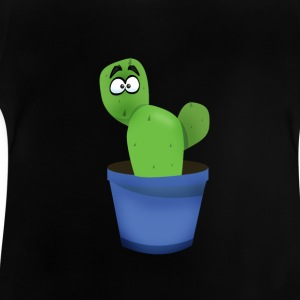 Cactus spines Bart plant comic green eyes funn - Baby T-Shirt