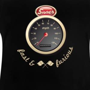 Gasoline Vintage Car car quickly Tacho Tuning km / h - Baby T-Shirt