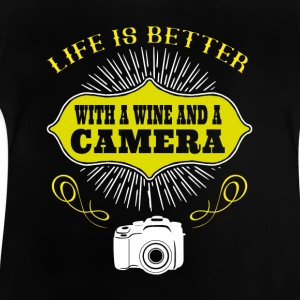 Wine and Camera - Baby T-Shirt