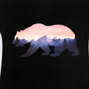 bär berge grizzly wild rocky cool natur wald fun - Baby T-Shirt