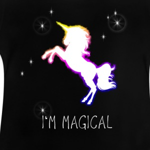 unicorn unicorn rainbow sparkle magic magic jam - Baby T-Shirt