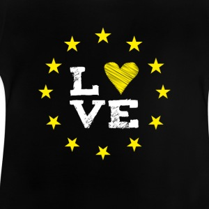 love Europe EU star circle heart demo statement LO - Baby T-Shirt