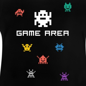 game area pixelart videogame konsole pc retro nerd - Baby T-Shirt