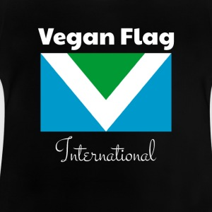 Drapeau végétalien officiel international - T-shirt Bébé