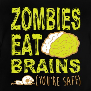 ZOMBIES EAT BRAINS T-SHIRT - Baby T-Shirt