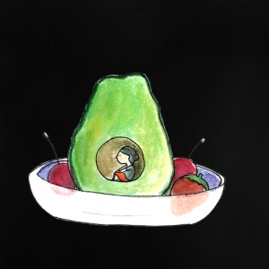 Petitesuis (avocado girl) - Baby T-Shirt