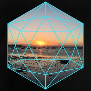 geometrisk Sunset - Baby-T-shirt