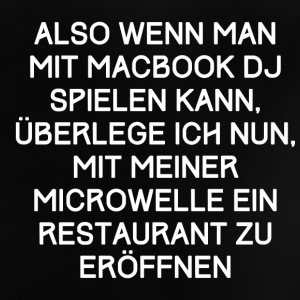 TECHNO T-Shirt - Macbook Microwelle DJ - Baby T-Shirt