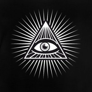 illuminati seeing eye lit fun cool love - Baby T-Shirt