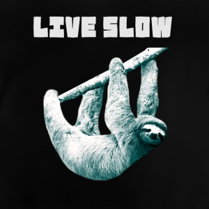 sloth-watercolor slowly Slow hanging lazy nerd ge - Baby T-Shirt