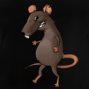 Fiese råtta rodent ohyra rodent mus - Baby-T-shirt