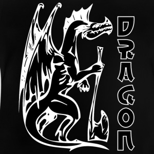 standing dragon with axe black - Baby T-Shirt