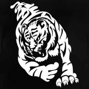 wild tiger attacking - Baby T-Shirt