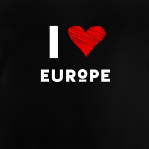 I Love Europe eu heart red love fun statement Demo - Baby T-Shirt