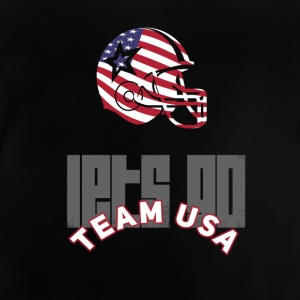 usa Football Touch down flag America Sport defenes - Baby T-Shirt