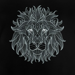 Lion white lion king outline mandala pattern head - Baby T-Shirt
