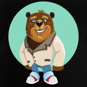 Cute bear in jeans and laughs - Baby T-Shirt