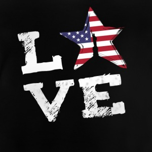 Love usa America flag proud 4th of july national lol - Baby T-Shirt
