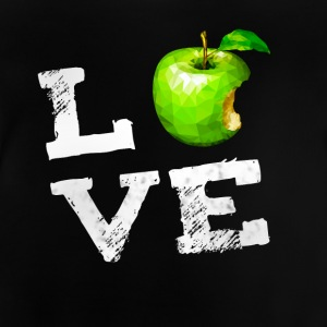 Love apple apple vegan pc nerd geek humor Fruits g - Baby T-Shirt