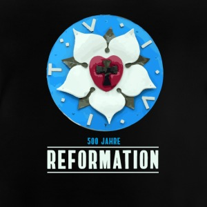 luther rose reforma 500 Kirchentag tesis pray - Camiseta bebé