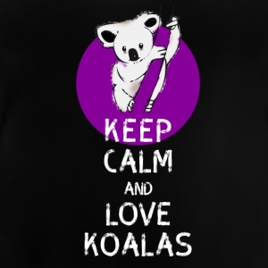Koala bear cute Keep calm Love koalas Save humo - Baby T-Shirt