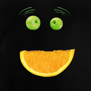 Monster face humor fruit apple vegan funny mouth - Baby T-Shirt