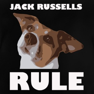 Jack russels rule2 white - Baby T-Shirt