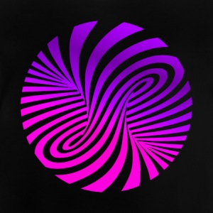 psychedelic illusion disco 60s tromb - Baby-T-shirt
