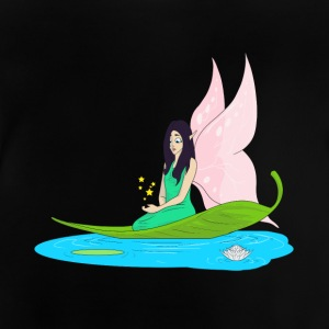 Fairy swims on a leaf in the pond - Baby T-Shirt