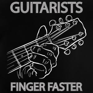 Guitarists finger faster - musik - Baby T-Shirt